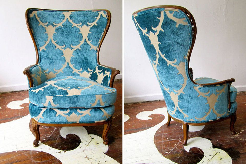 Martinique   Comes In Ebony, Champagne, Coral, Clove And The Lagoon Blue  Used On This Chair. (Upholstery Done By The Amazing Chairloom)