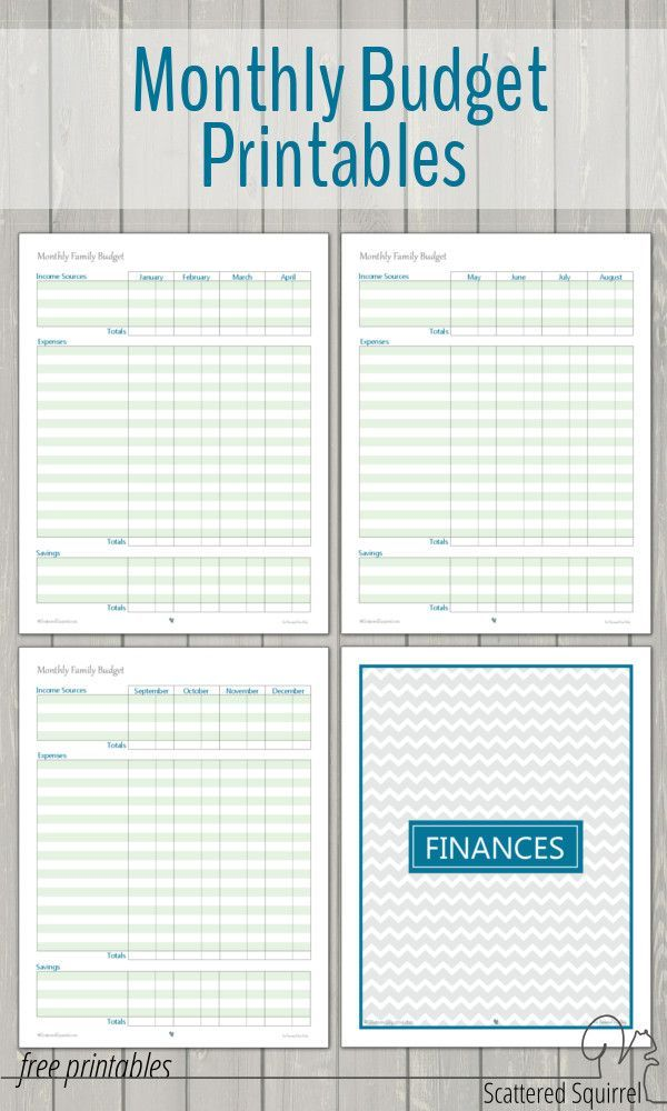 monthly family budget printables pinterest budgeting collection