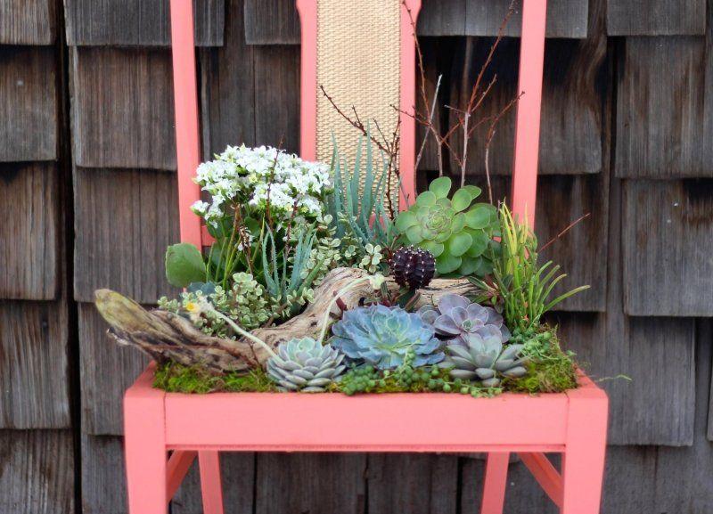 Alter Stuhl Neu Streichen Und Bepflanzen Upcycling