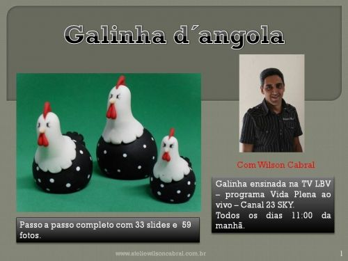 PAP GALINHAS D´ANGOLA - Wilson Cabral - Biscuit e Arte arte - Álbuns da web do Picasa