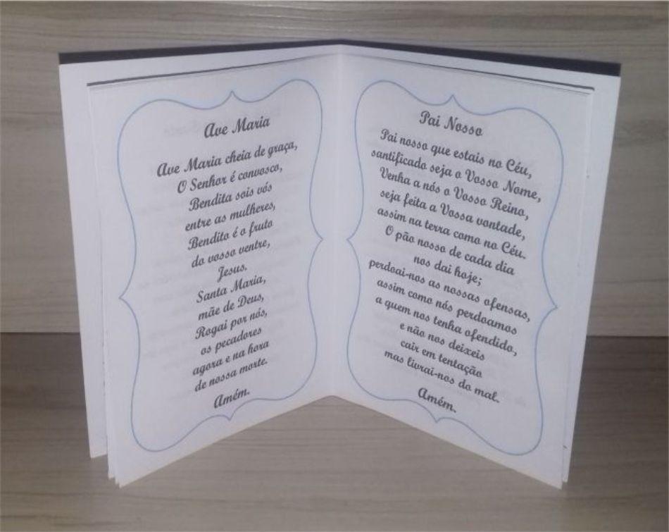 Livrinho De Oracoes Personalizado Para Batizado Medidas 10 Cm