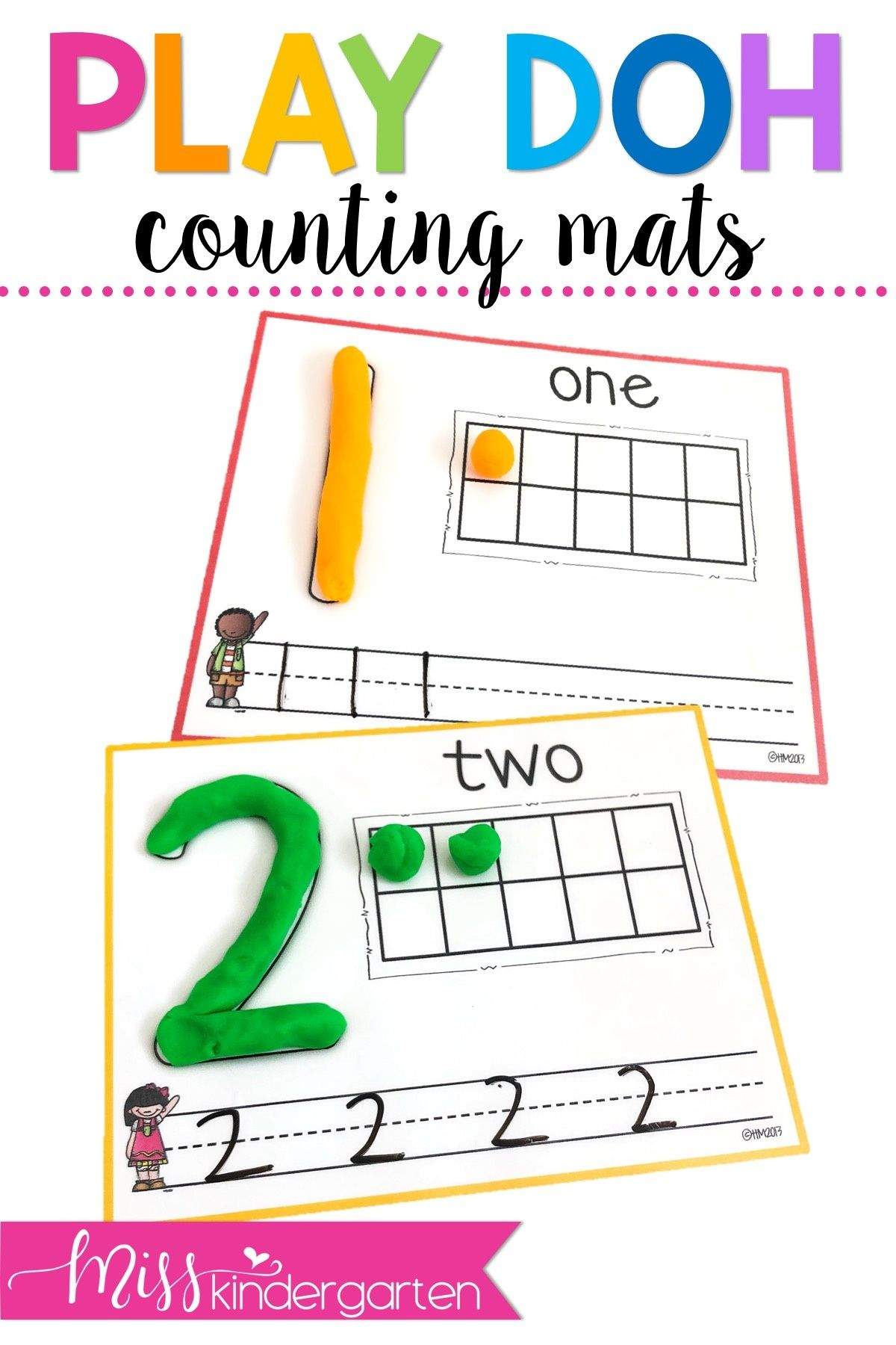 Printable Ten Frames And Numbers That Double As Play Doh Mats For Fantastic Fine Motor Ski Kindergarten Math Activities Math For Kids Kindergarten Lesson Plans