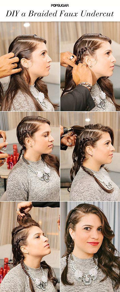 DIY A Kristen StewartInspired Faux Braided Undercut Undercut - Undercut hairstyle diy