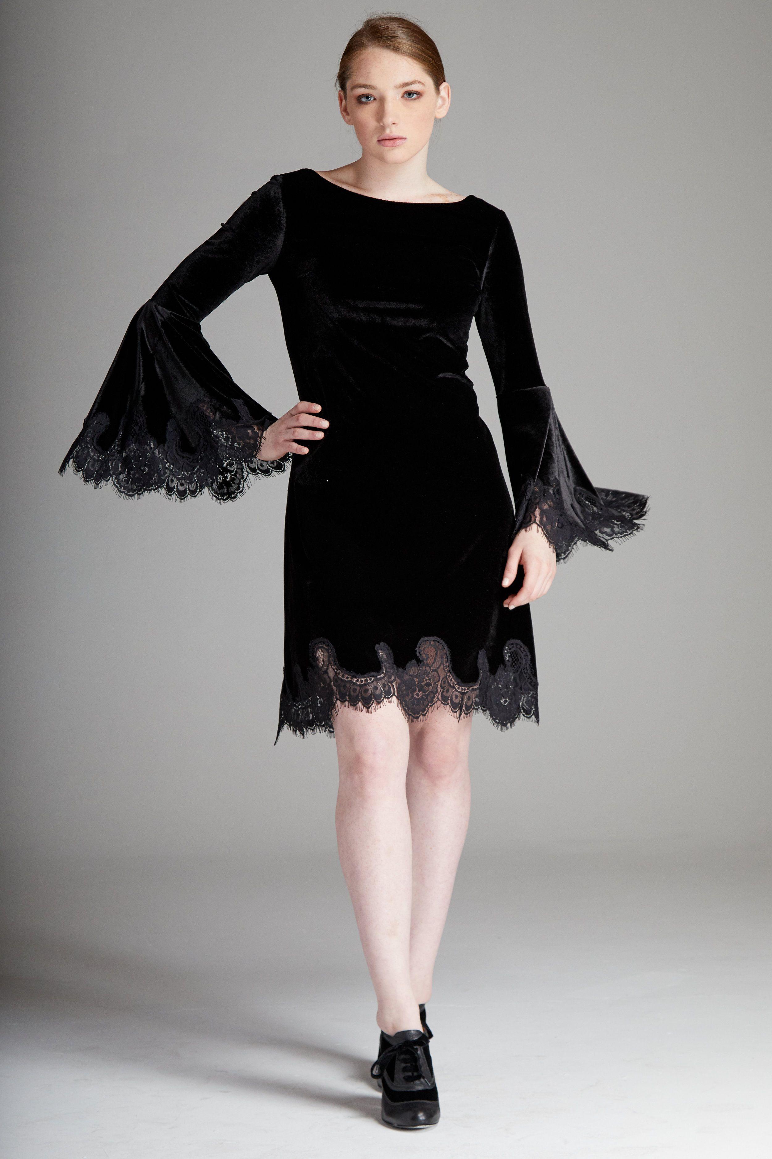36+ Black velvet dress long sleeve ideas info