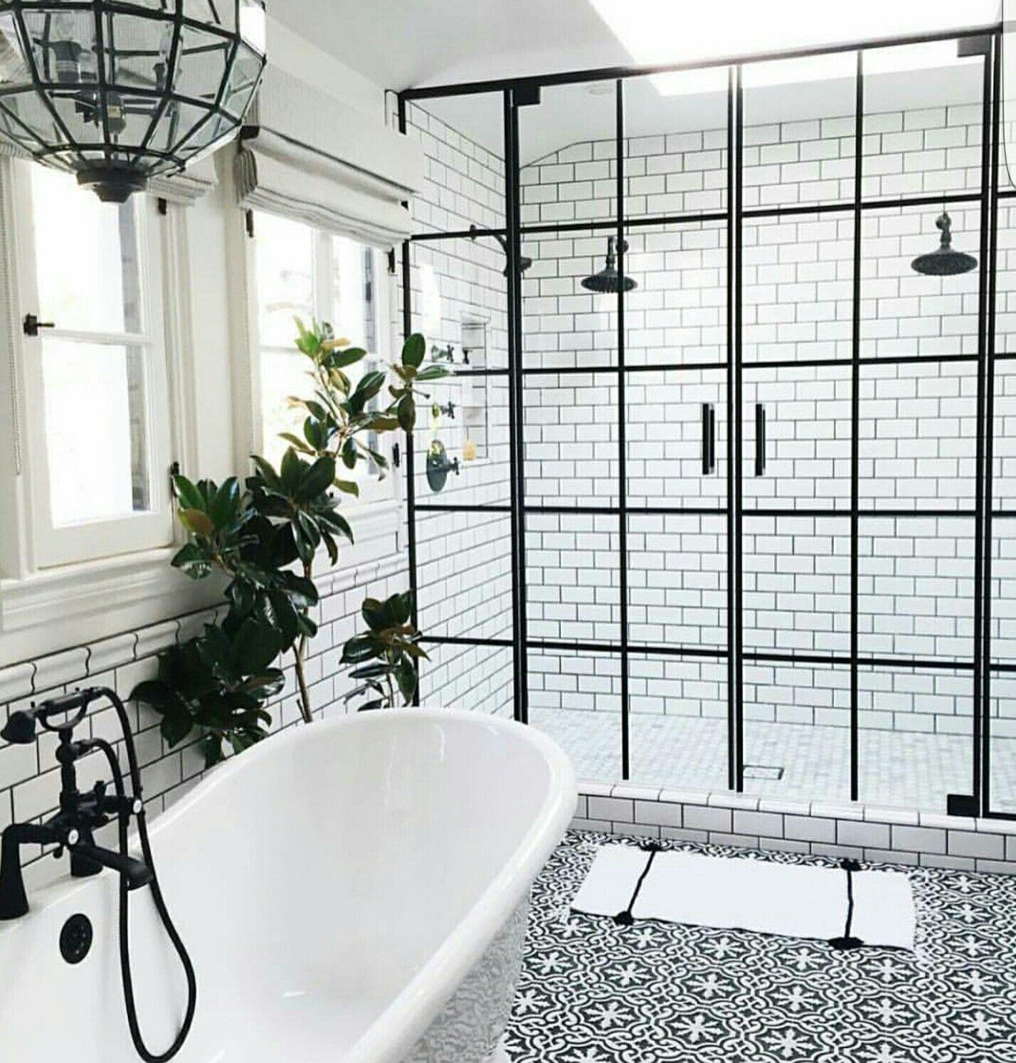 Two shower heads and door design new place pinterest door