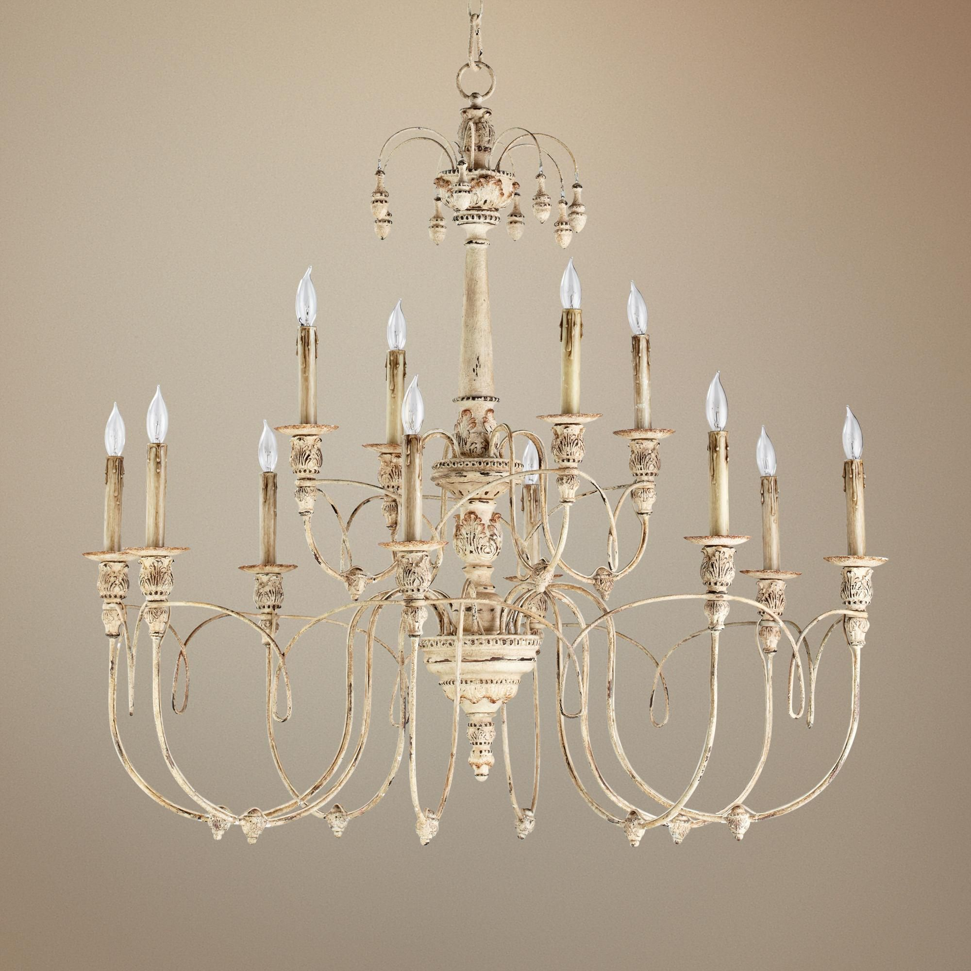 Quorum Salento 12 Light 39 Wide Parisian White Chandelier U6570 Lamps Plus White Chandelier Chandelier Chandelier Lighting