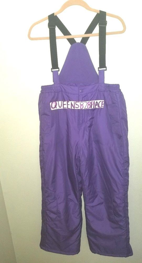 9fa90255f65 New Total Girl Girls size plus 14.5 14 1 2 Purple Snow bibs Ski pants  Snowsuit  TotalGirl