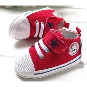 Infant Shoes Velcro Canvas Sneakers