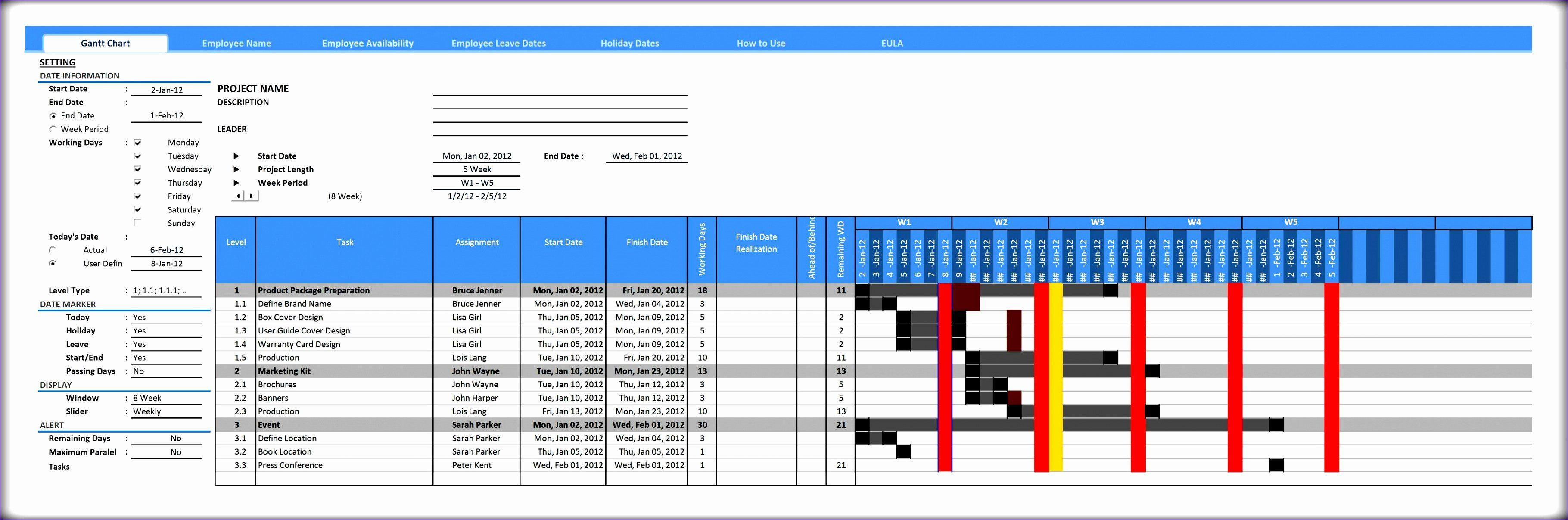 Ms Excel Chart Templates Beautiful 7 Microsoft Excel Gantt Chart