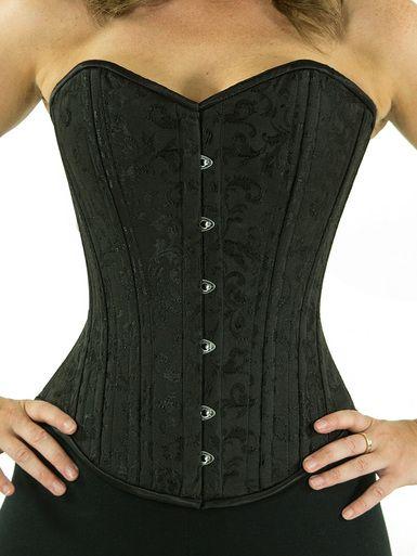 e22c09e6393 CS-530 black brocade overbust corset