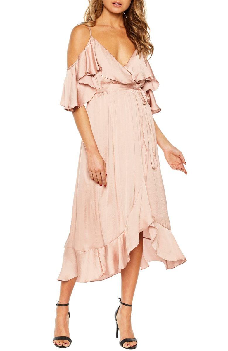 Bardot Bea Cold Shoulder Ruffle Dress Nordstrom Maxi Dress Dresses Wrap Dress [ 1197 x 780 Pixel ]