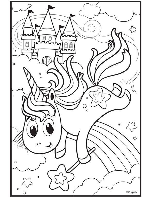uni-creatures unicorn auf crayola - kiddo arts