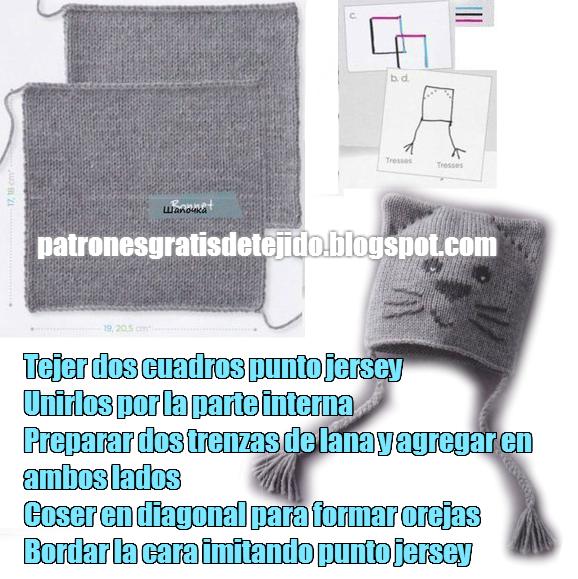 gorro+dos+agujas2.png (578×579) | gorrines | Pinterest | Gorro para ...