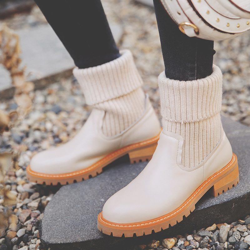 Chiko Sorrel Round Toe Block Heels Boots | Boots, Sweater