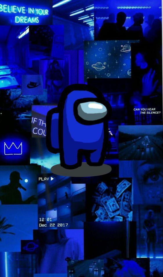Blue Among Us Wallpaper Wallpaper Iphone Cute Wallpaper Iphone Neon Cute Tumblr Wallpaper