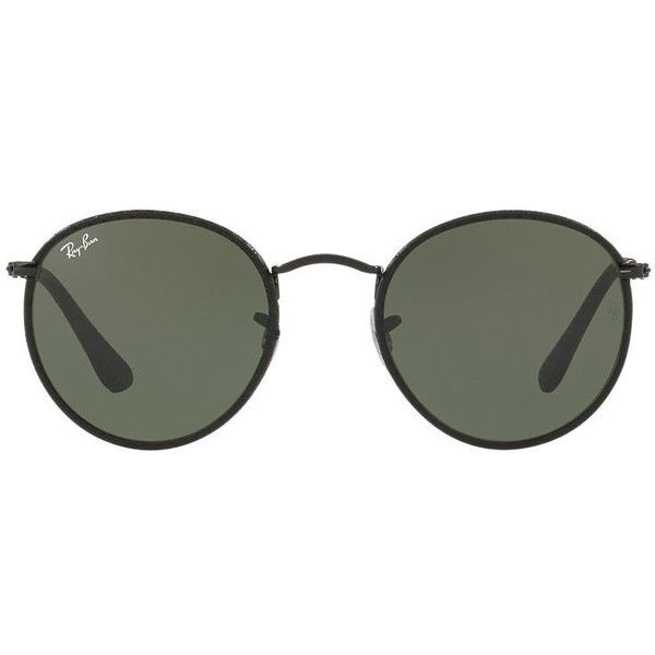 55ac63687bc2 Ray-Ban RB3475Q 50 ROUND CRAFT (725 BRL) ❤ liked on Polyvore featuring