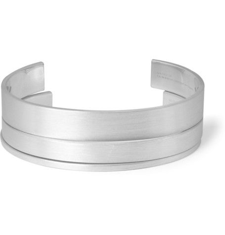 Le Gramme Matte Sterling Silver Cuff Set of 3 | MR PORTER