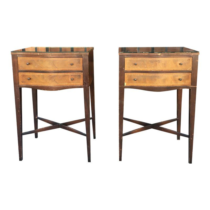 1940s Italian Bronze Nightstands A Pair Products Nightstand