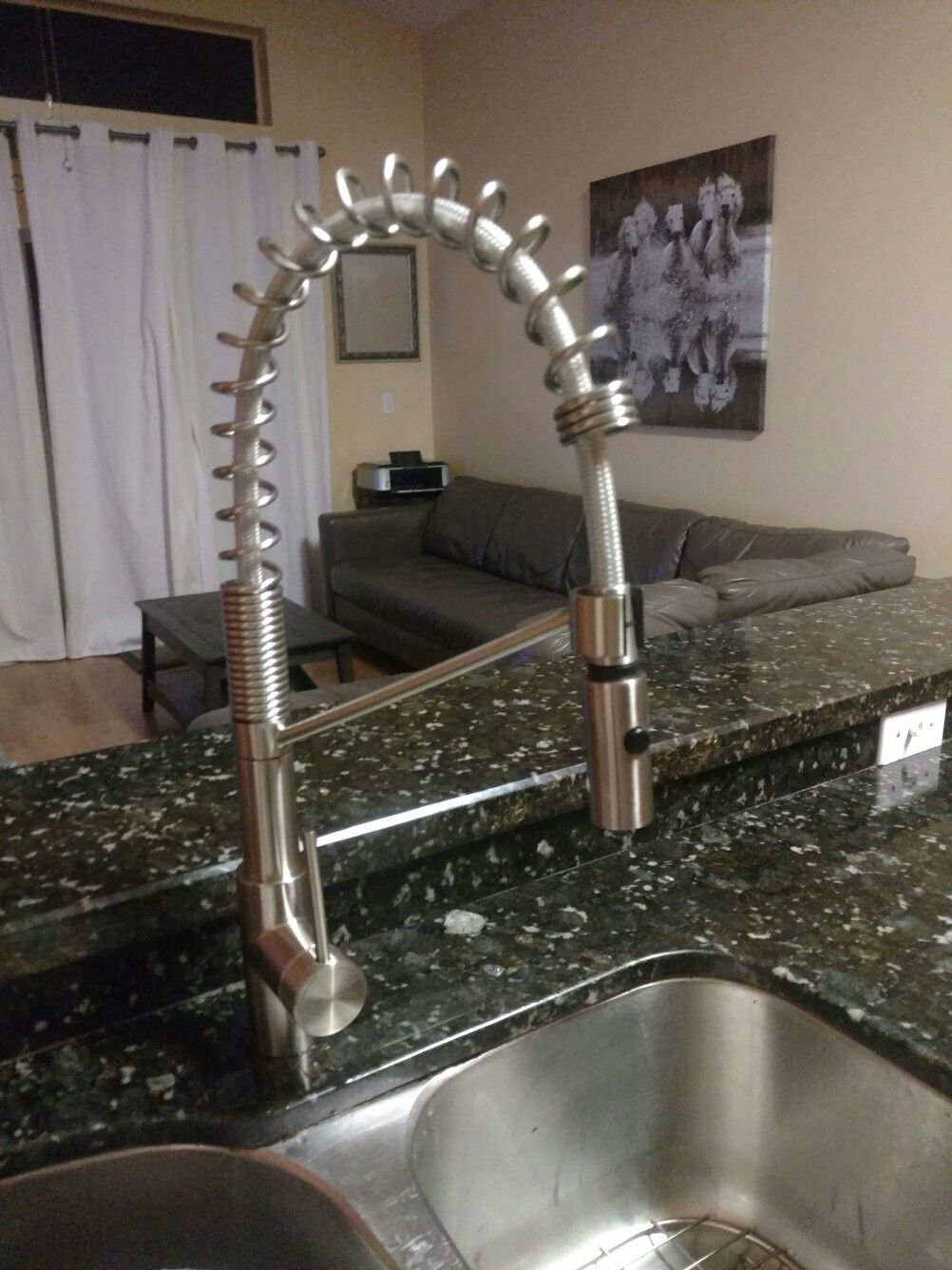 Industrial Stainless Steel Kitchen Faucet Stainless Steel