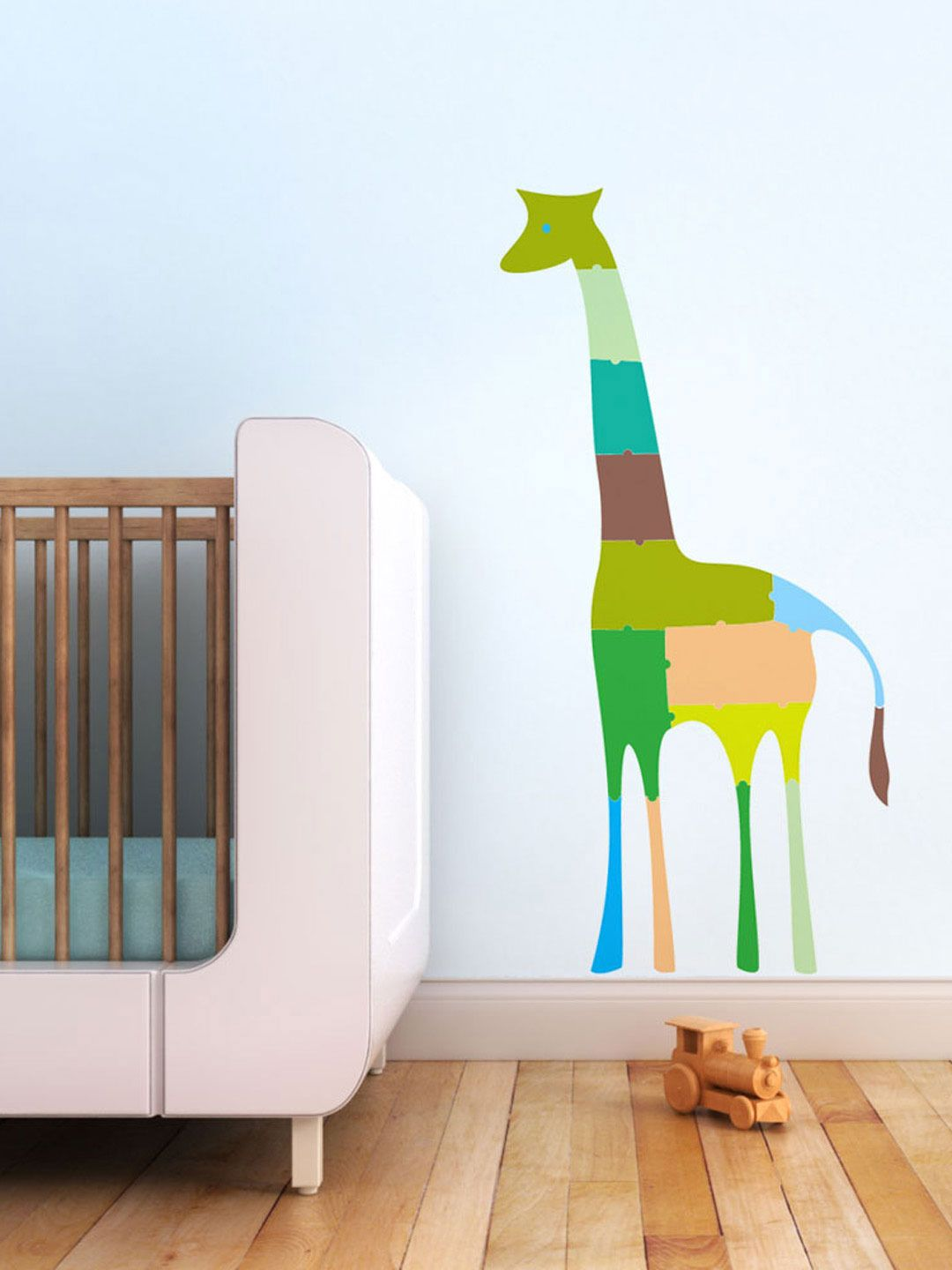 Giraffe puzzle fabric decal by trendy peas kids space pinterest