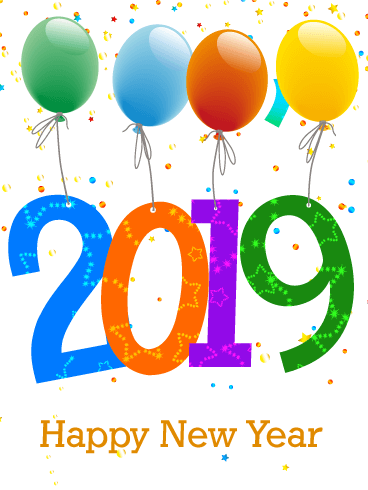 Celebrating New Year Card 2019 Things Are Definitely Looking Up Thanks To This Colorful A Happy New Year Images Happy New Year Photo Happy New Year Wallpaper