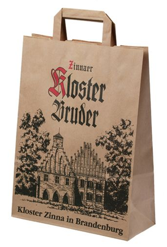 brown kraft paper bags with flat paper handle and logo printing - staples resume printing