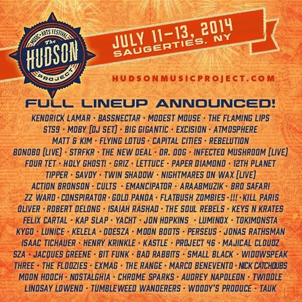 Hudson Project FULL LINEUP! HudsonProject MusicFestival