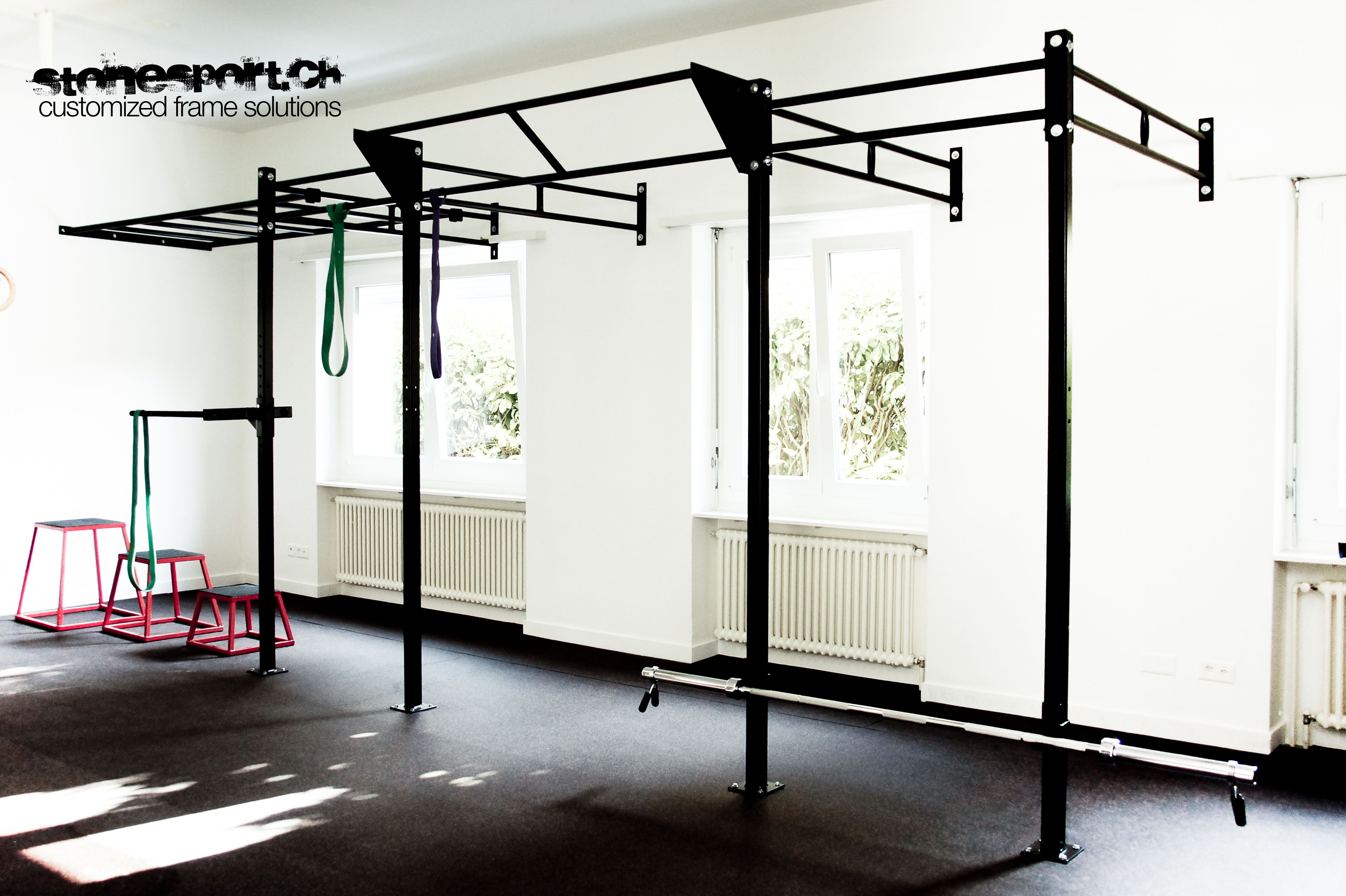 Custom made crossfit rigs by stonesport garage gym
