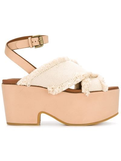 001dec8709c See by Chloe  Canvas Wedge  Sandals LATTE £275.00