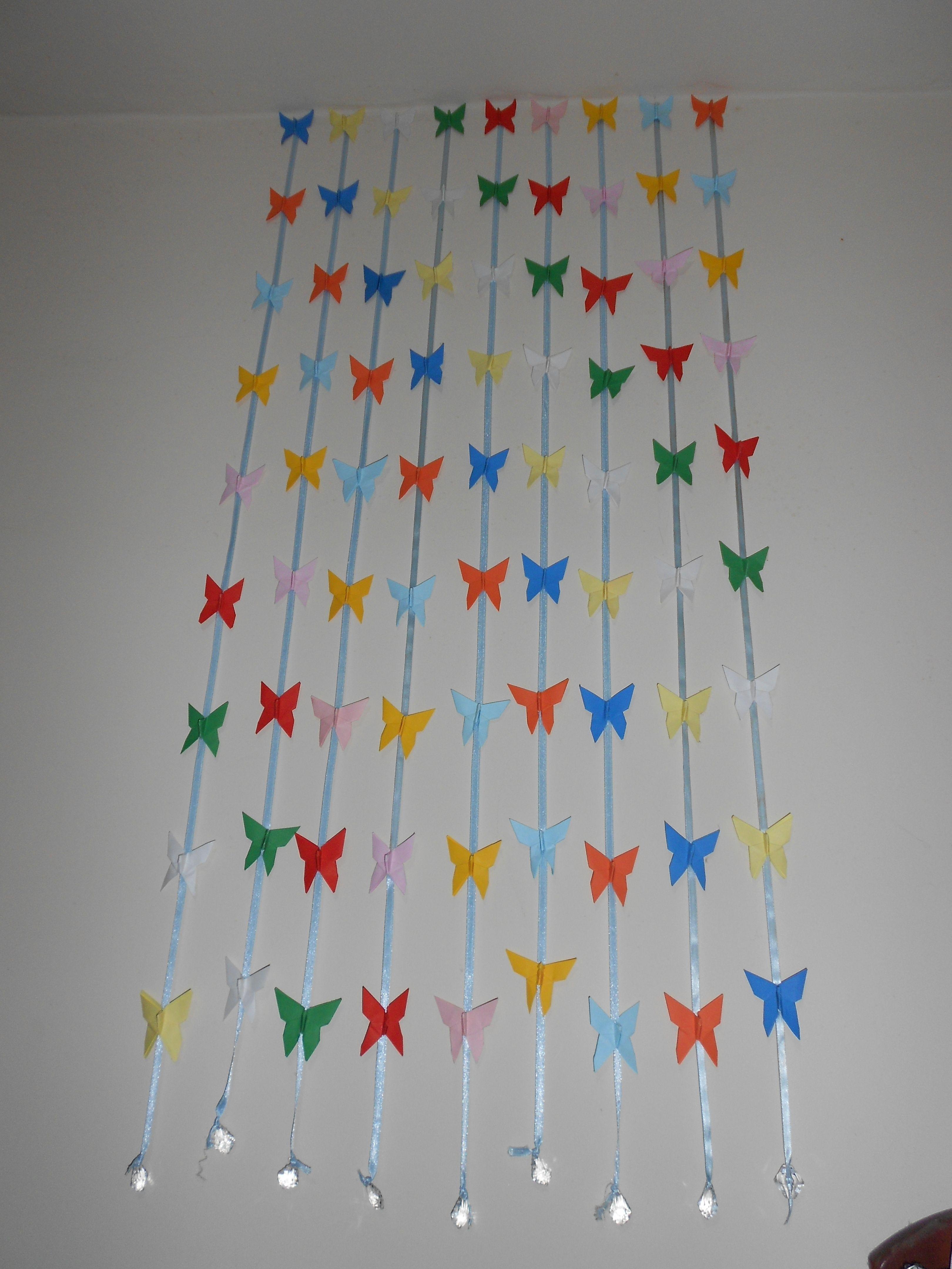 Cortina De Borboletas De Origami Borboletas Jpg 3240 4320