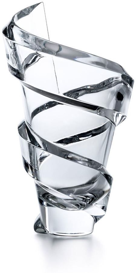 Baccarat Spirale Crystal Vase Crystal Vase Blown Glass Art Crystal Glassware