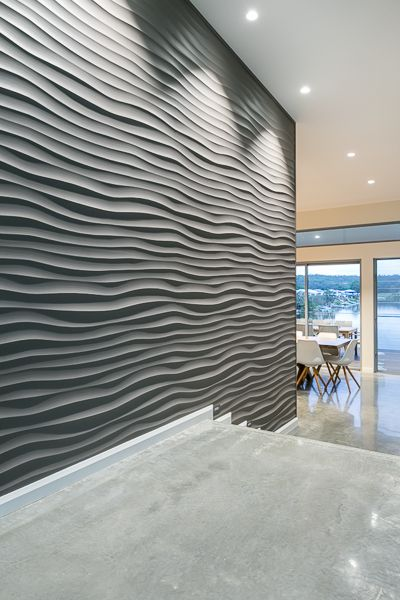 Dunes Design 3D Wall Panels In Gold Coast Waterfront Home