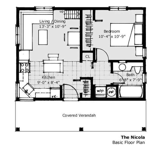 560 Ft 20 X 28 House Plan Small Home Plans Pinterest