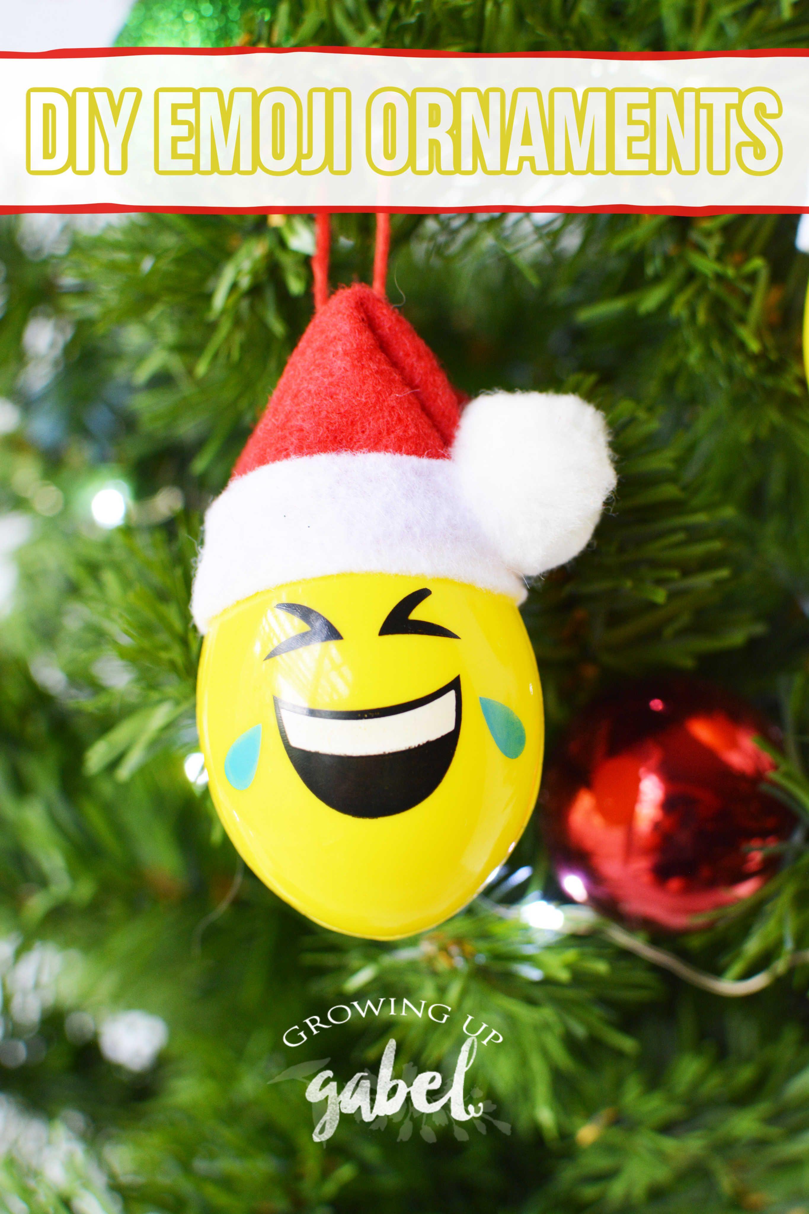 Diy Emoji Christmas Ornaments Christmas Ornaments Emoji Christmas Diy Christmas Ornaments