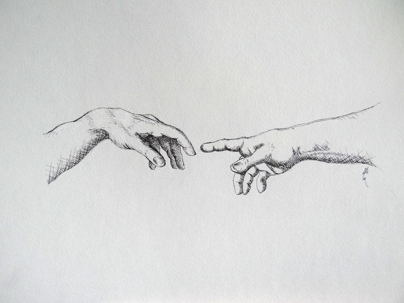 The Creation Of Adam Michelangelo Michelangelo Tattoo Hand