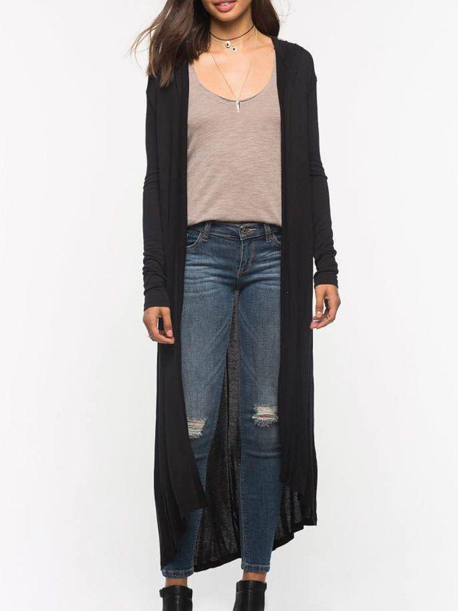 Adorewe justfashionnow outerwear designer gumuxi black hoodie