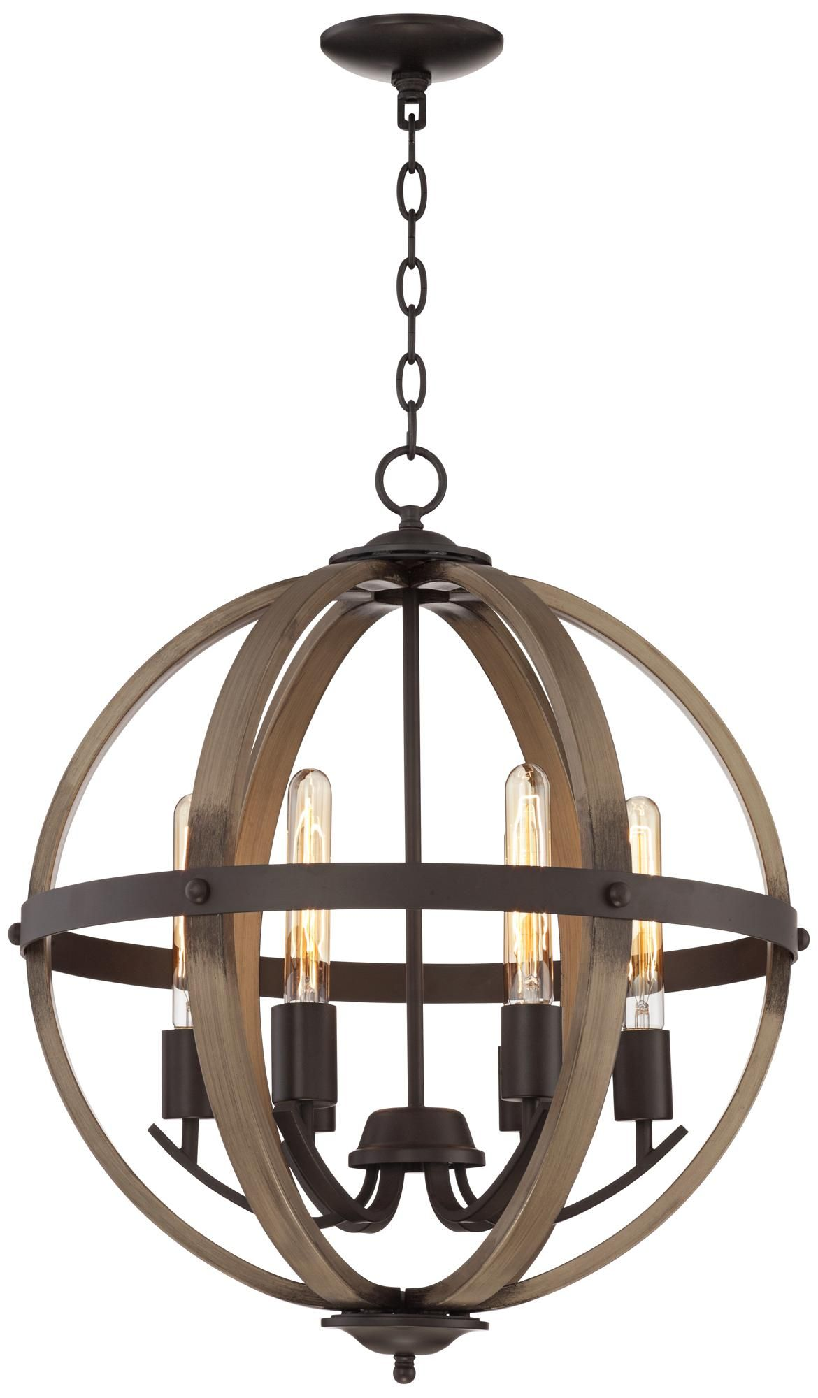"Kimpton 6 Light 21"" Wide Dark Bronze Orb Chandelier"