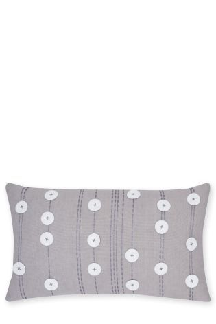 Buy Applique Dotty Felt Cushion From The Next Uk Online Shop Linen Bedding Bed Linen Sets Cushions On Sofa