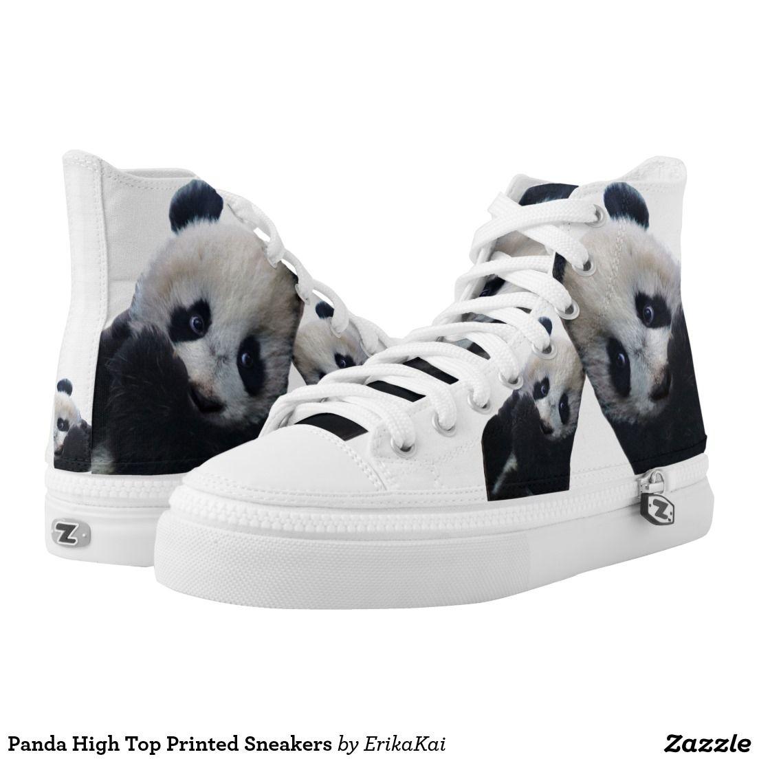 cf5ee9d2a63 Panda High Top Printed Sneakers Printed Shoes