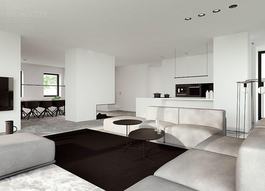 Single family house interior design pabianice. italiano