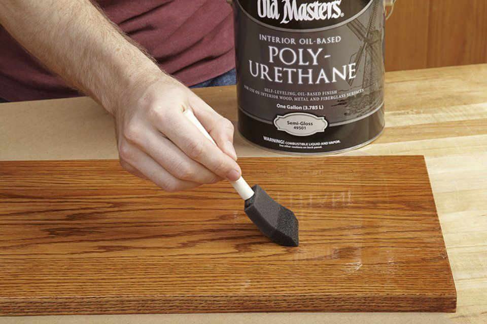 4 Steps To A Perfect Polyurethane Finish Polyurethanefinishwoodstain How To Apply Polyurethane Used Woodworking Tools Staining Wood