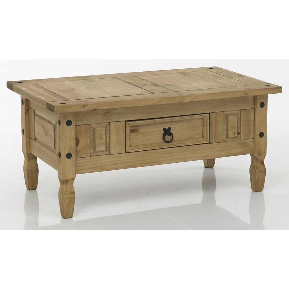 Monterrey mexican style traditional solid pine coffee for Mexican style coffee table