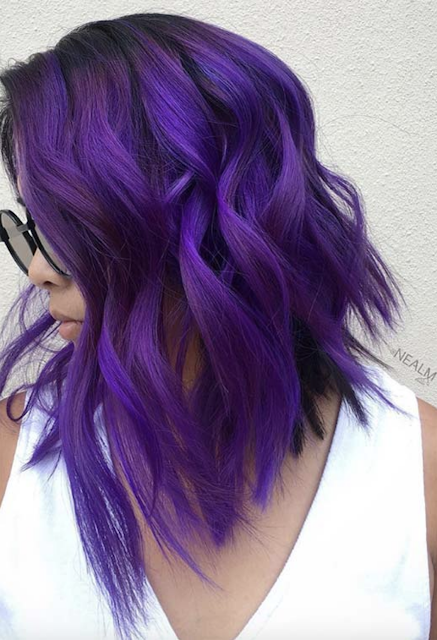 purple hair color 2019 - 2020 | Colored hair tips, Dyed hair purple, Light purple  hair