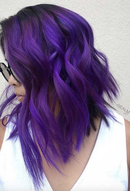 Purple Hair Color 2019 2020 Light Purple Hair Colored Hair Tips Purple Hair
