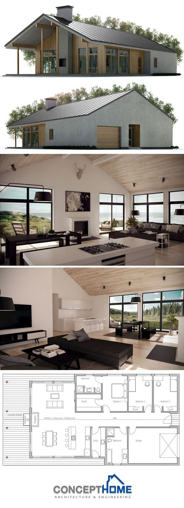 kitchen dining, living layout, perfect..add dropped living