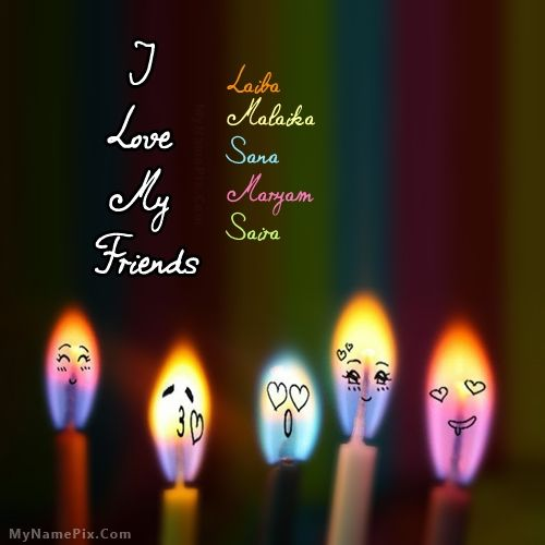 Love Quotes And Images Free Download: The Name [laiba] Is Generated On I Love My Friends With