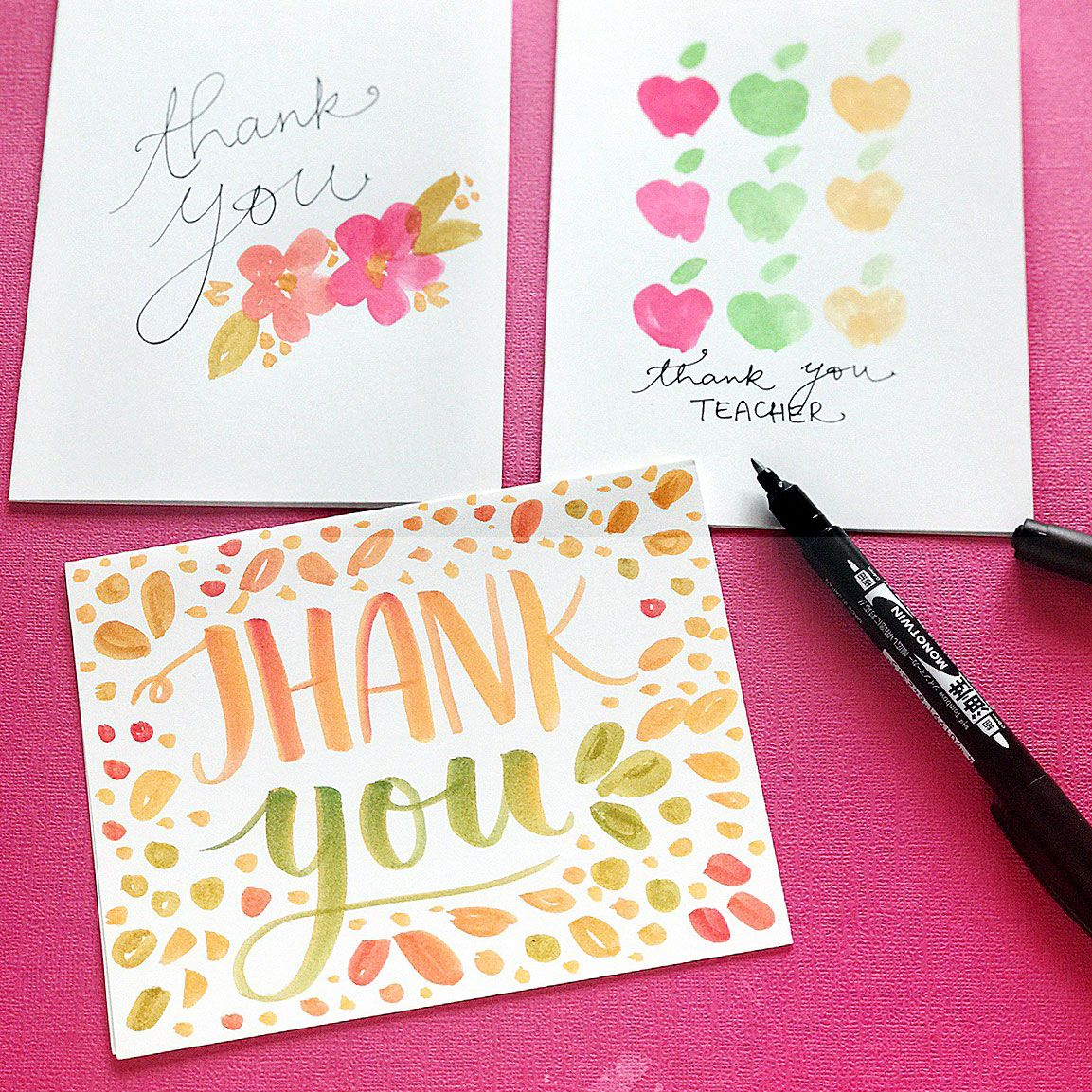 Teacher Appreciation INSTANT DOWNLOAD Tri-Fold Card Blank Template