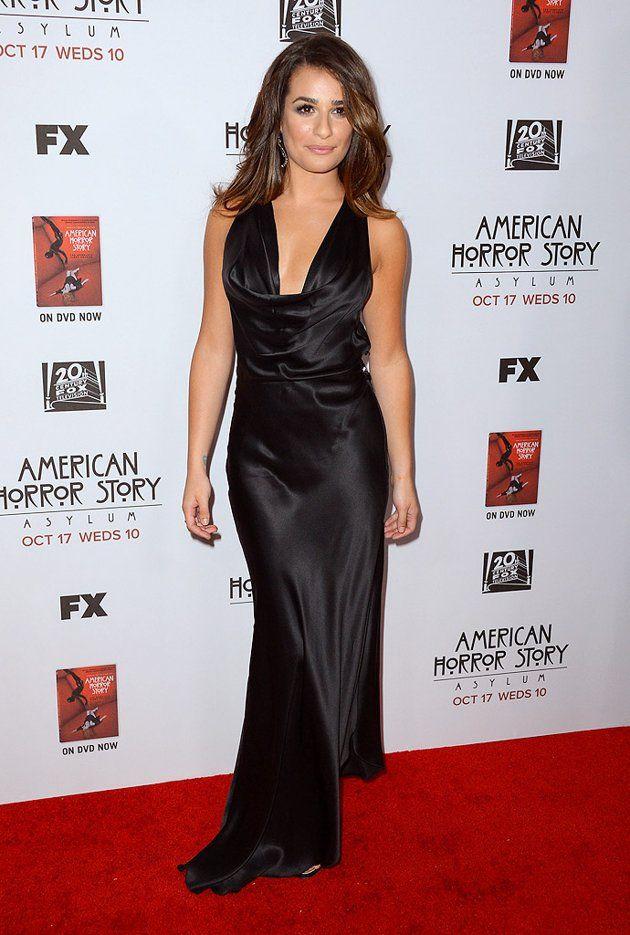 Lea Michele in Armani gown