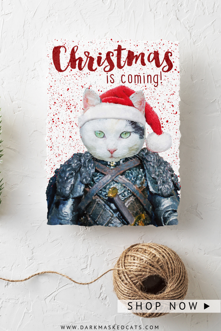 Personalized Christmas Cards Pet Portrait Printable Card