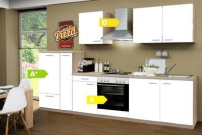 Menke Küchen Küchenzeile Classic 300 cm weiß Leerblock